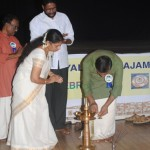 Onam 2014 - Lighting Lamp- M V Unnikrishnan ,Secy