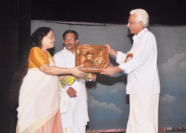 Samajam Felicitation to Smt Tankamani Kutty